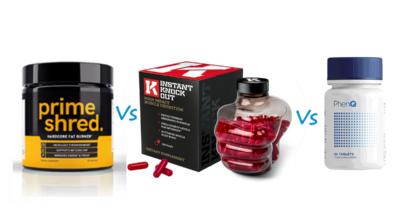 PrimeShred vs Instant Knockout vs PhenQ cortfoundation